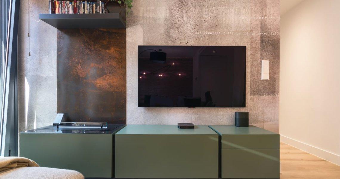 Diseño integral salón-comedor papel glamora