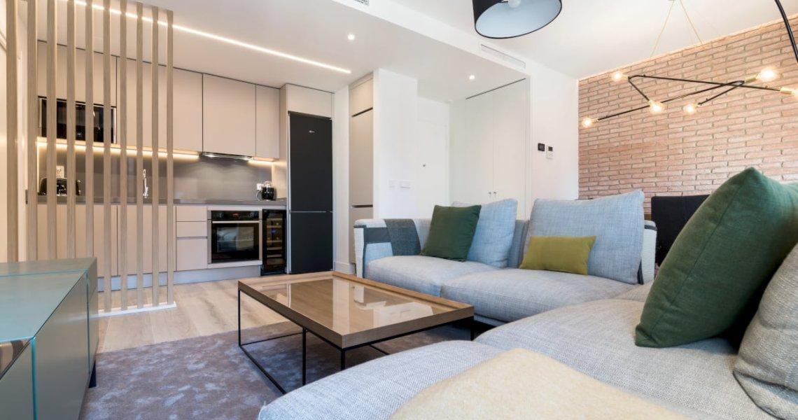 Diseño integral salón-comedor sofá