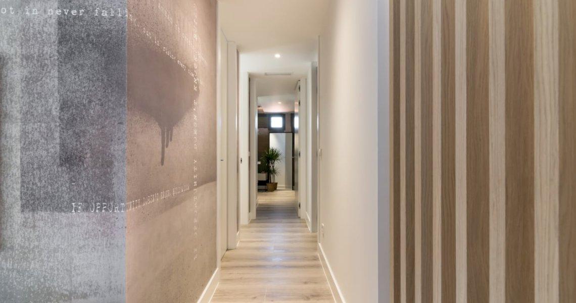 Diseño integral vivienda pasillo