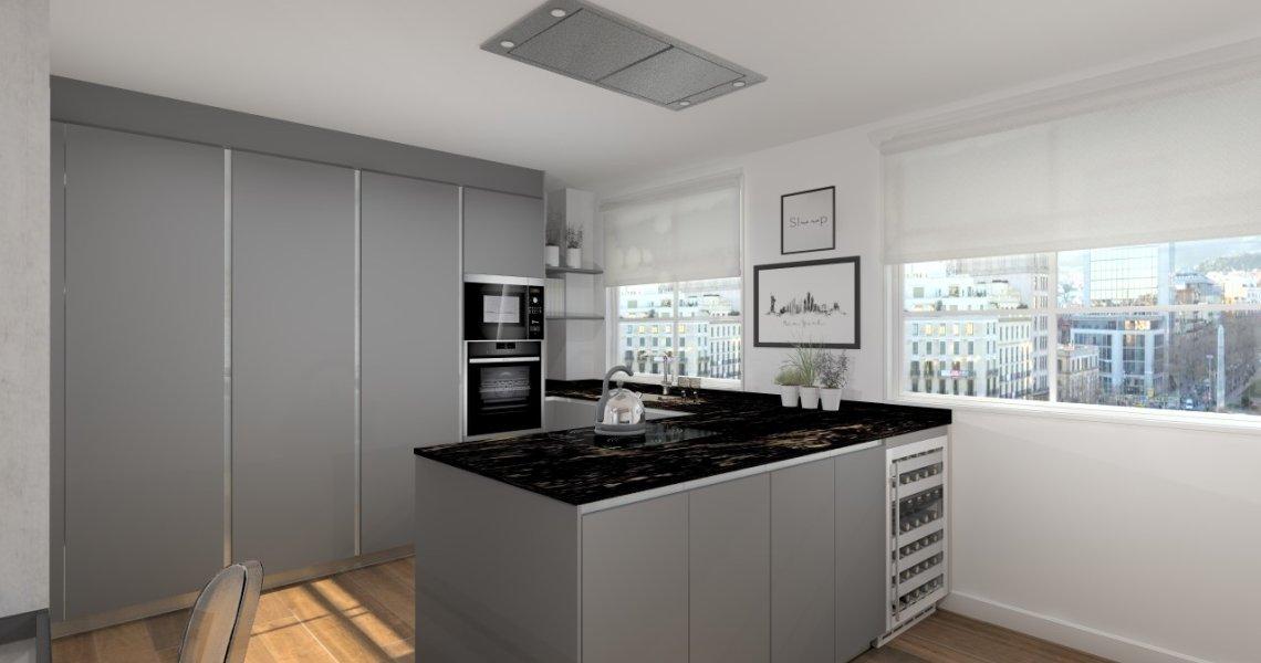 Contemporaneidad y elegancia en una cocina docrys cocinas for Equipo mayor y menor de cocina pdf