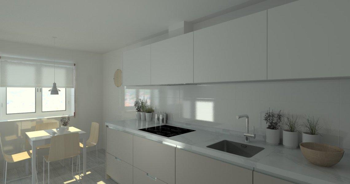 Cocina santos modelo minos line l laminado color gris for Modelos de muebles de cocina altos y bajos