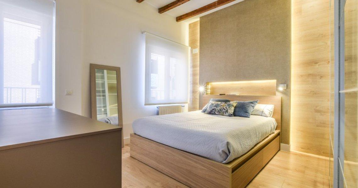 Proyecto de interiorismo ático de lujo dormitorio