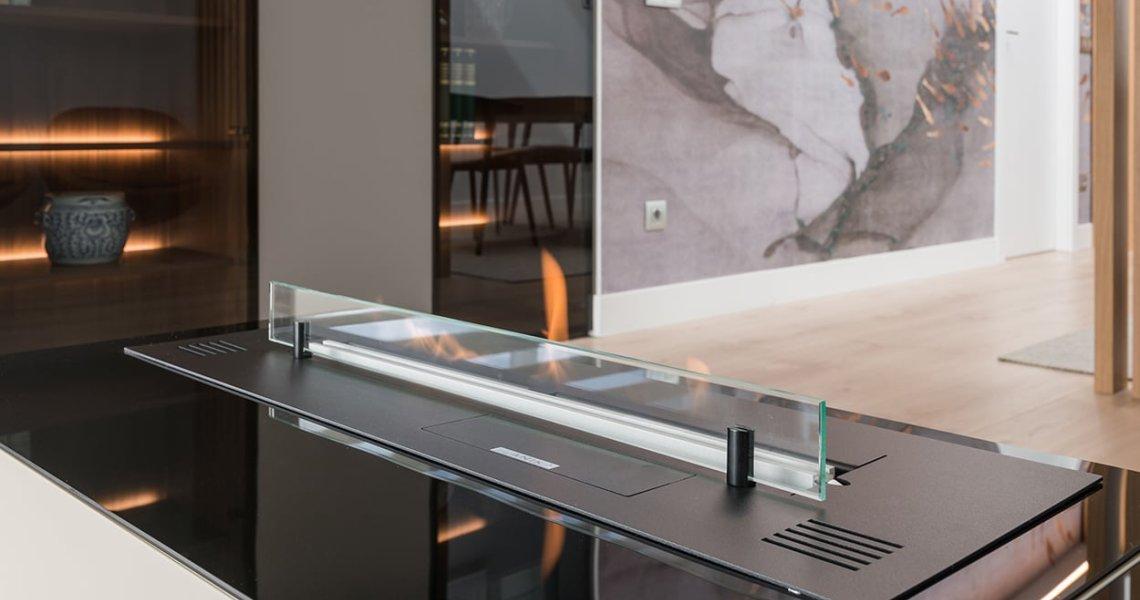 Chimenea, Proyecto interiorismo y decoración de salón y comedor