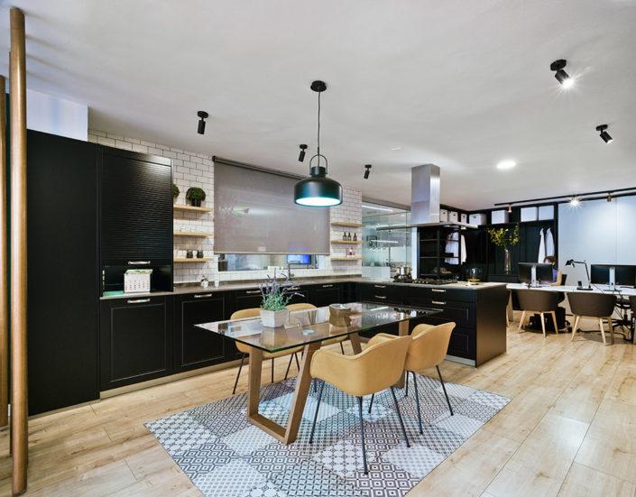 Modelo Santos Epoca Negro SM | Cocinas mobiliario