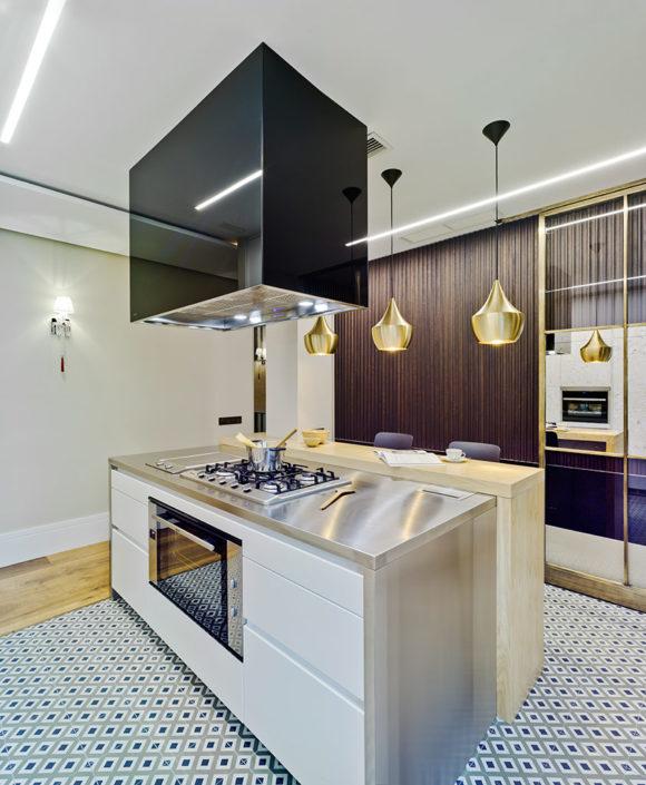 Modelo Santos Line L Blanco Seda | Cocinas mobiliario