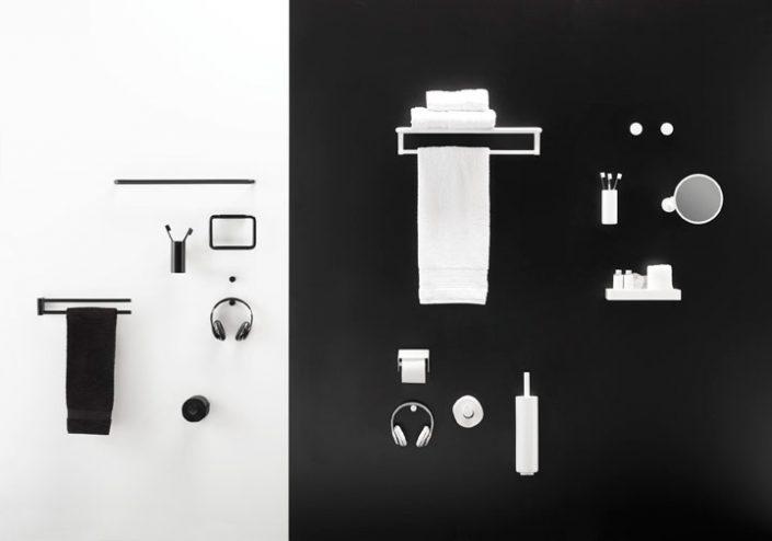 Cosmic_Black & White - Accesorios baños