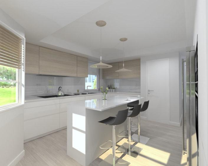 La pureza en las cocinas Santos - proyectos 3d