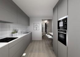 Una cocina unica y moderna - proyectos 3d