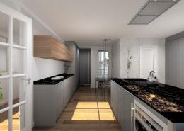 contemporaneidad y elegancia en una cocina - proyectos 3d