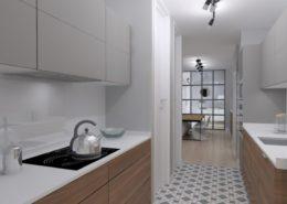 Una cocina contemporanea, practica y funcional - proyectos 3d