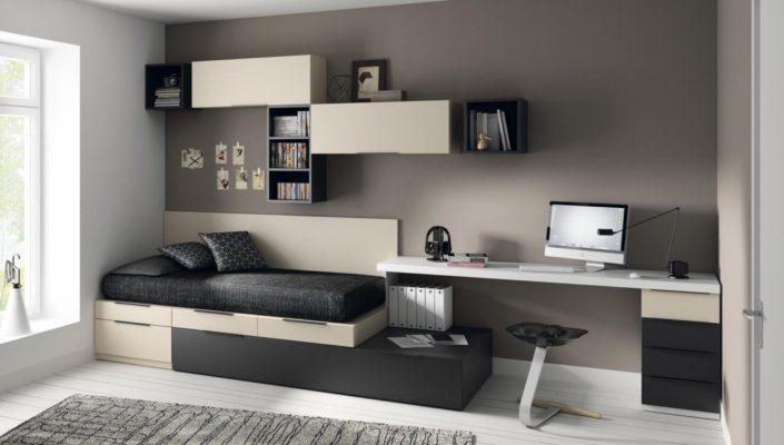 JJP_Dormitorio camas cubos y estantería
