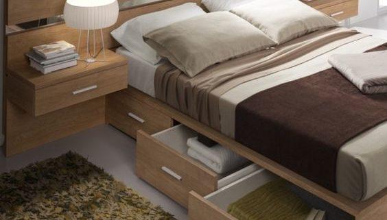 cajones en cama dormitorios
