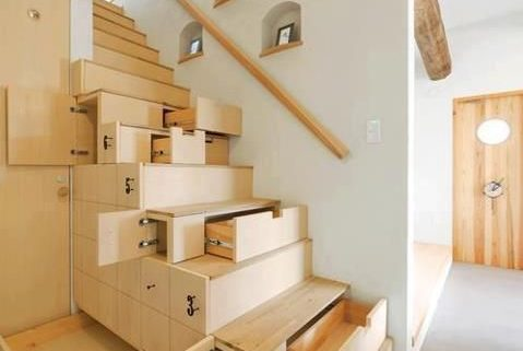 cajones en escaleras