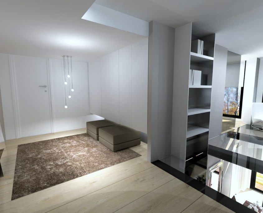 proyecto de recibidor en vivienda madrid