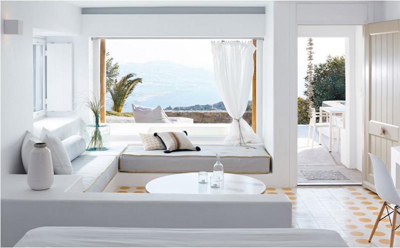Estilo mediterráneo colores claros hogar