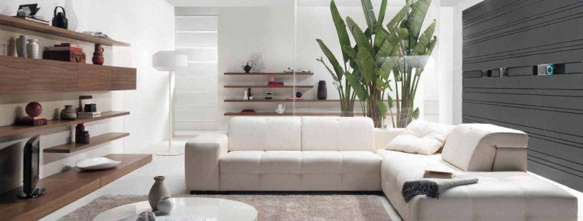 ambientes monocromátios en un proyecto de vivienda