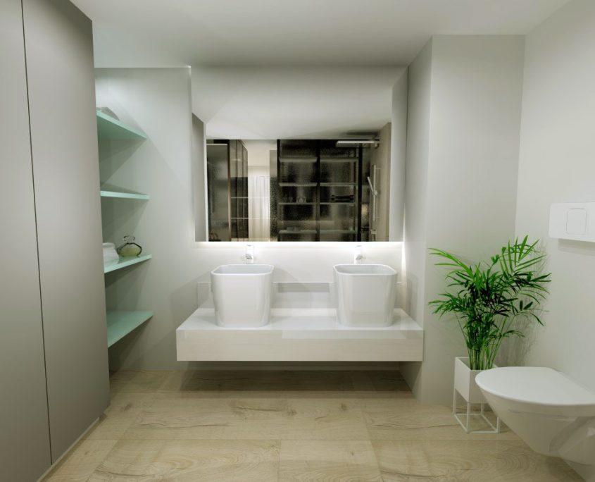 ambientes separados por un vestidor