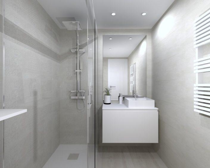 baño moderno 3D poyecto