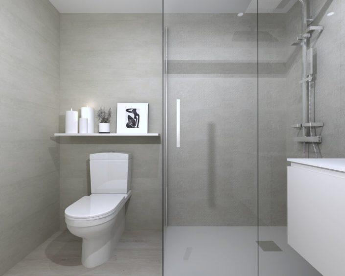 baño neutro y moderno