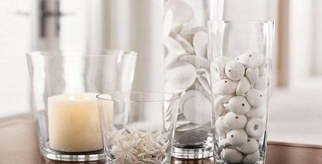 jarrones de cristal con decoración
