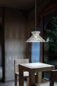 lámpara de cristal decoración studio italia design