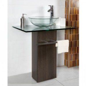 lavabo de cristal decoración baños