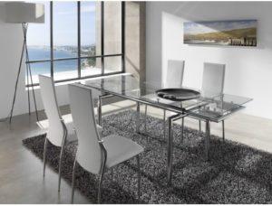 mesa de cristal cómo decorar tu salón