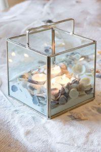 velas de cristal decoración del hogar