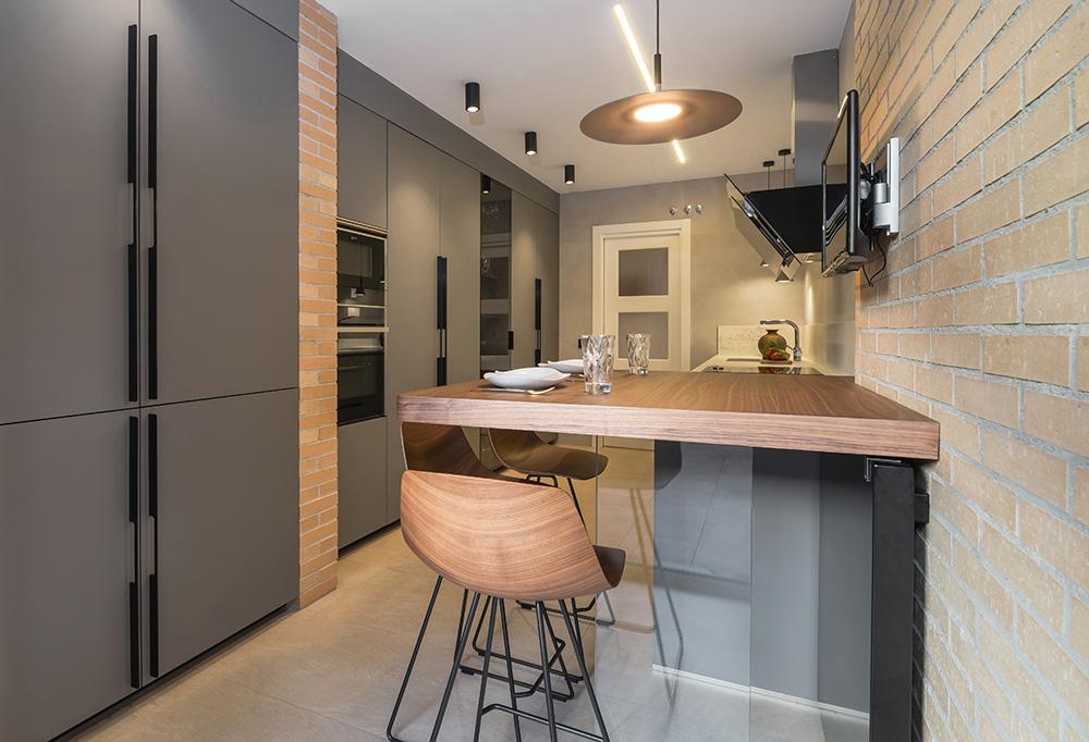 Cocina de diseño rústico moderna