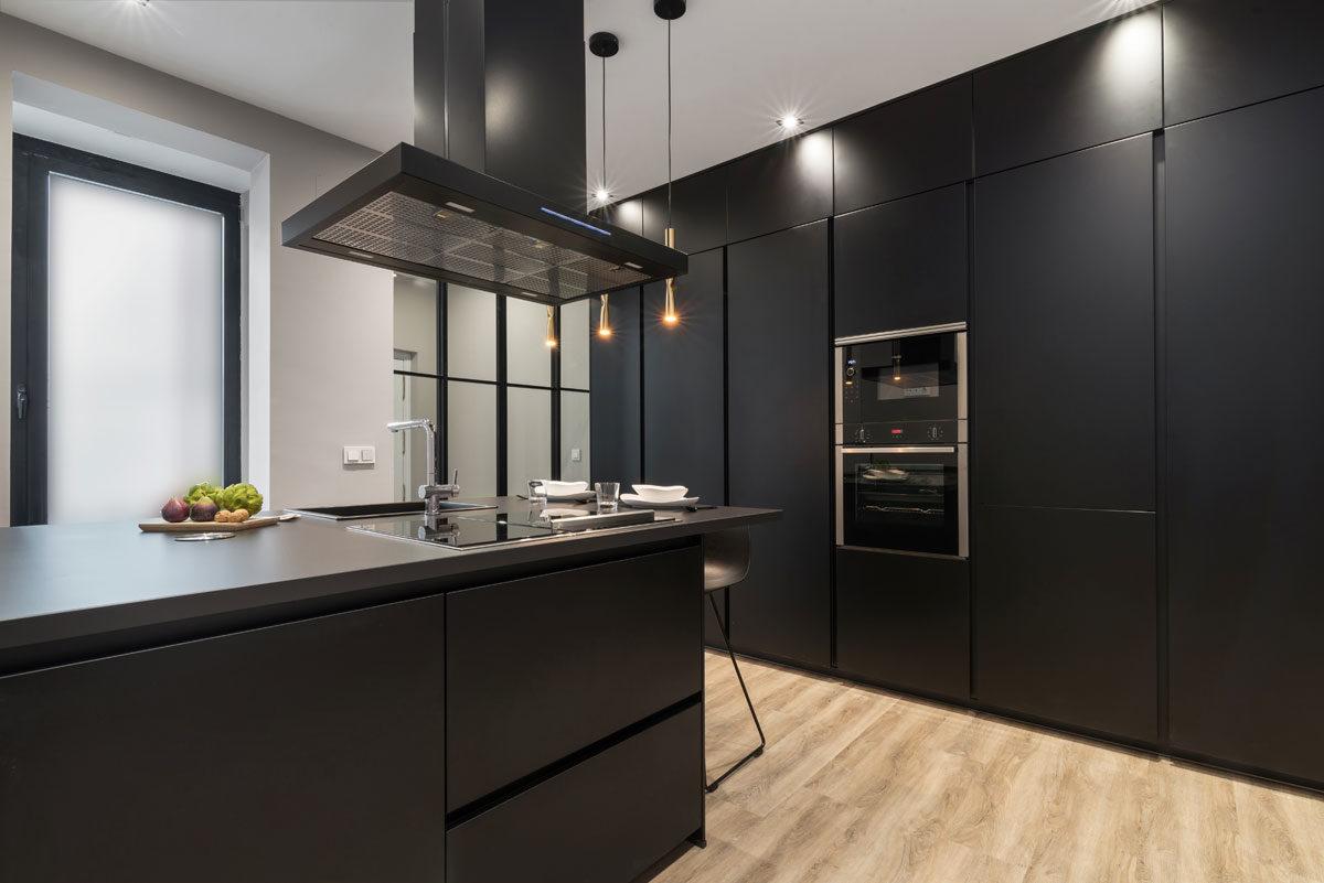 Cocina Santos moderna negra