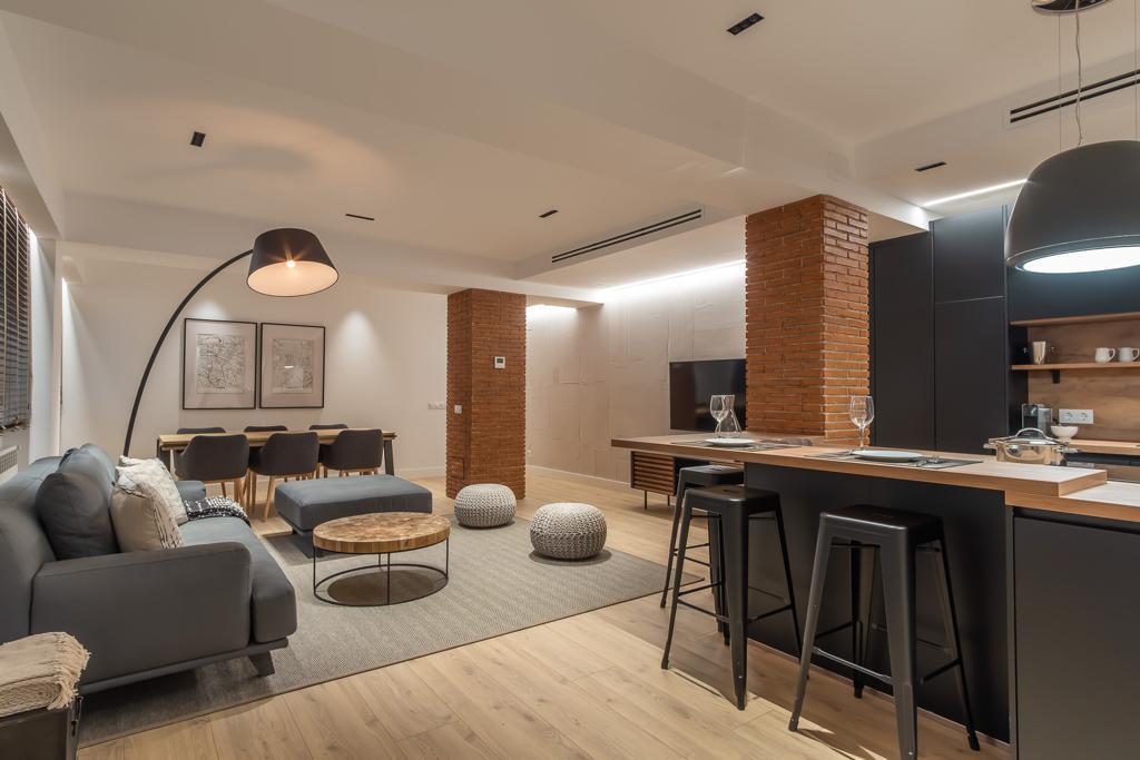 Salón diseño contemporáneo industrial